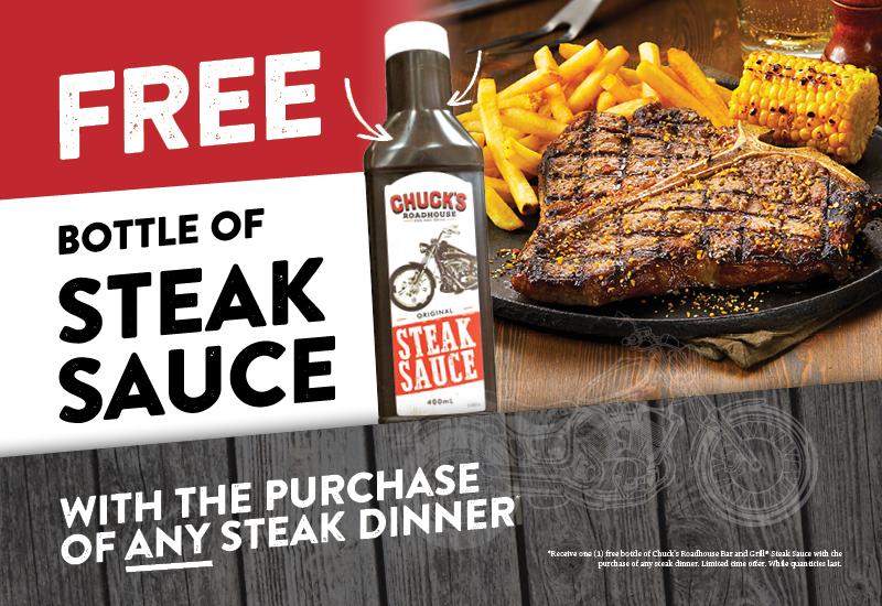 steakhouse promotion steak chuck's roadhouse